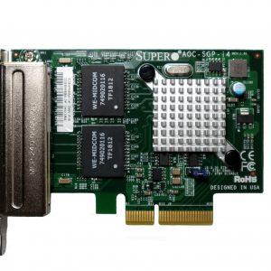 แลนการ์ด Supermicro AOC-SGP-I4, Intel i350-T4 (ประกัน 2 ปี)