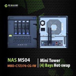 เครื่องคอมพิวเตอร์ NAS MS04 MBD-C7Z370-CG-IW