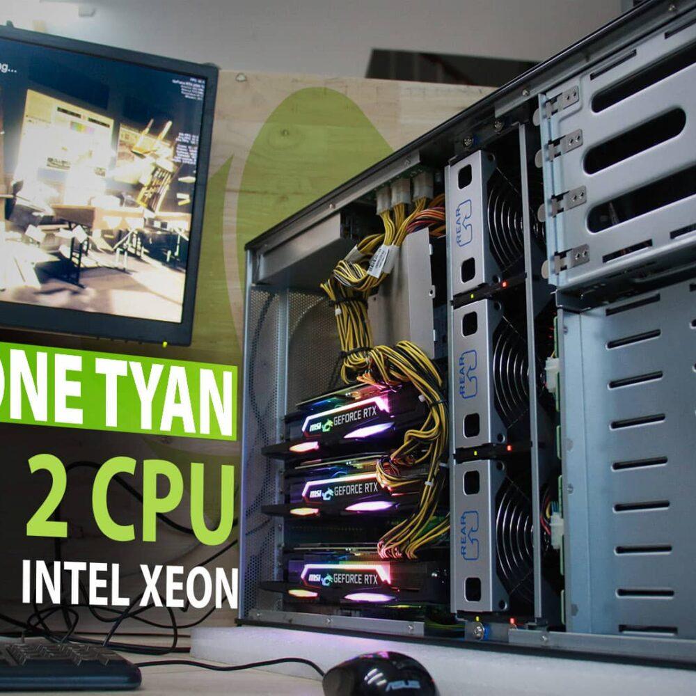 Test Performance 4U 3GPU Barebone TYAN B7105F48TV8HR-2T-G