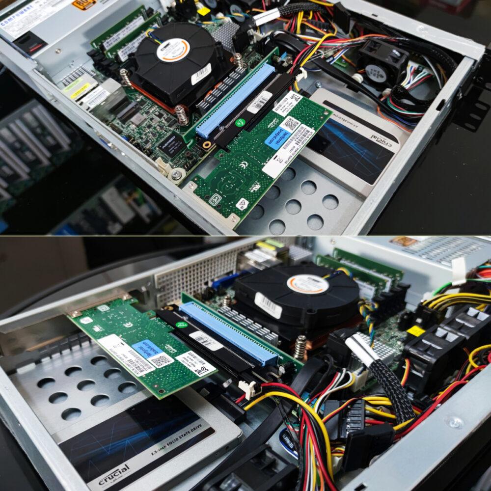 ติดตั้ง Riser Card ให้กับเครื่อง 1U RSP1250-E3C246D4I-2T