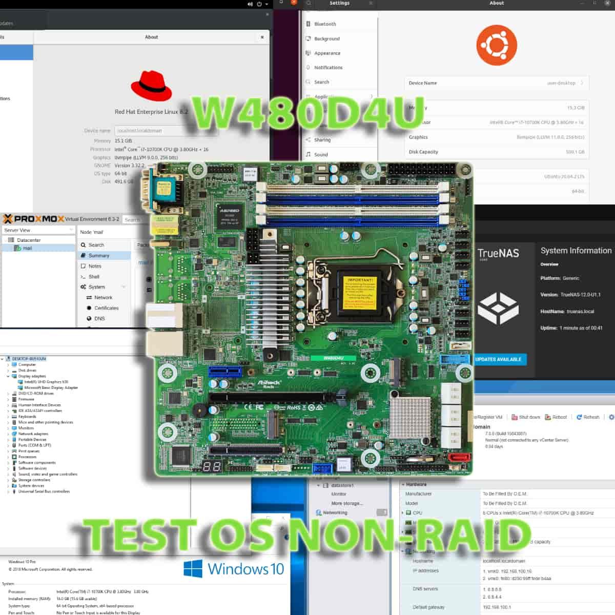 W480D4U Test OS non-RAID