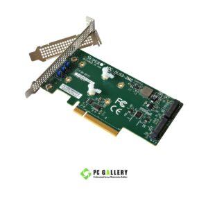 การ์ดสำหรับติดตั้ง M.2 NVMe PCI-E Supermicro AOC-SLG3-2M2